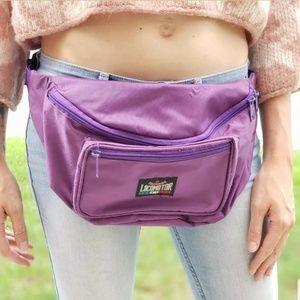 Vintage Locomotor Purple Fanny Pack Hip Waist Bag